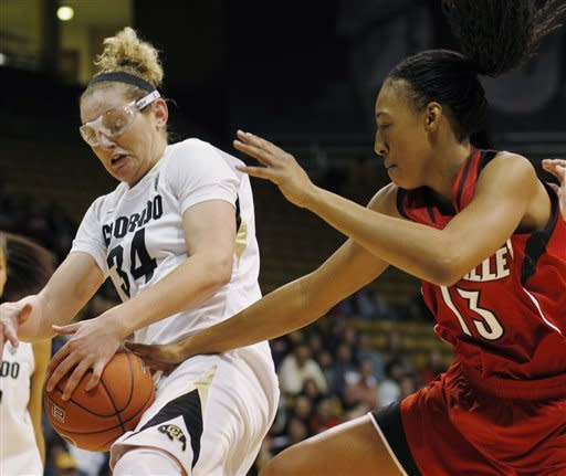Colorado women stun No. 8 Louisville 70-66