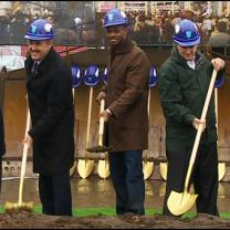 Vikings, State Leaders Break Ground On New Stadium