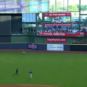 Lucroy's solo homer