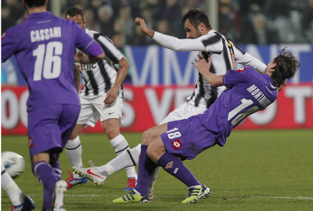 Juventus' Mirko Vulcinic Of Montenegro (2D-R) Kicks AFP/Getty Images