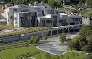 "The Scottish Parliament building in Edinburgh. Lawmakers from Britain's three main political parties launched a campaign against Scottish independence on Monday, insisting that Scotland benefits from the United Kingdom's ""unique influence"""