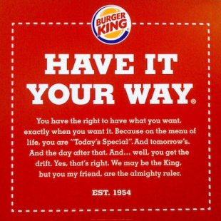 Why Bad Customer Service Bleeds Your Company Dry (Infographic) image burger king have it your way online ad2