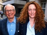 Rebekah Brooks (R) and Rupert Murdoch