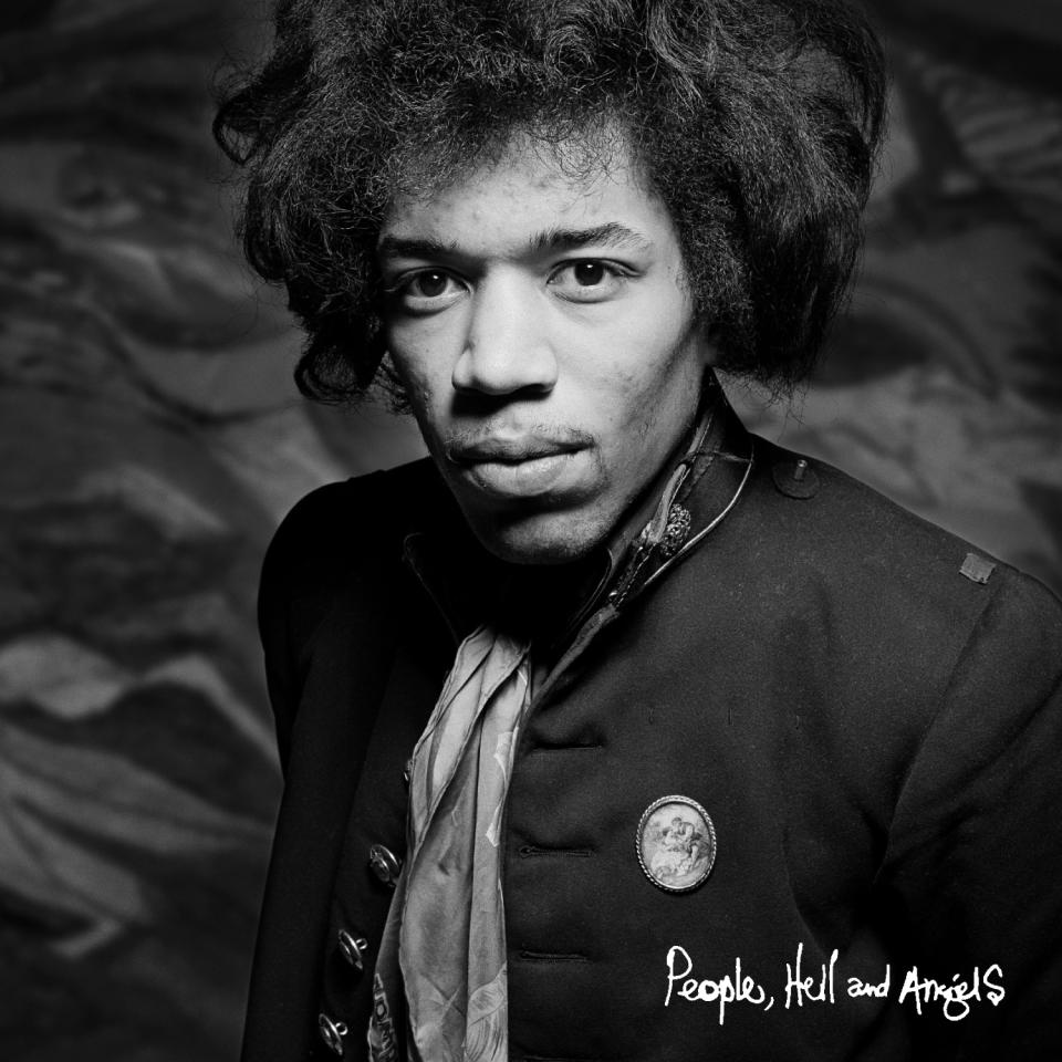 "This CD cover image released by Legacy shows ""People, Hell and Angels,"" by Jimi Hendrix. The album is the last of Hendrix's unreleased studio material, ending a four-decade run of posthumous releases by an artist whose legacy remains as vital and vibrant now as it was at the time of his death. (AP Photo/Legacy)"