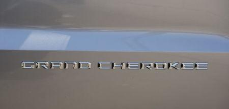 A view on the detail of a Jeep Grand Cherokee is seen in Los Angeles