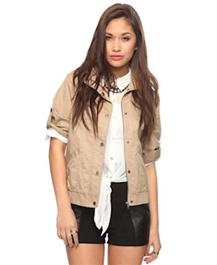 Three-Quarter Sleeve Utility Jacket