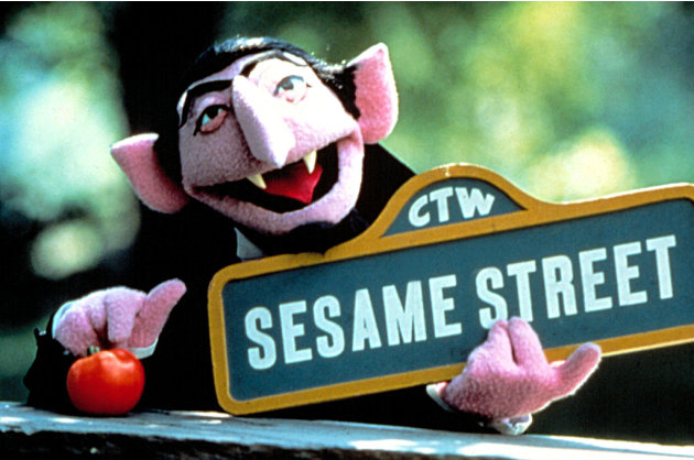 Count von Count on Sesame …