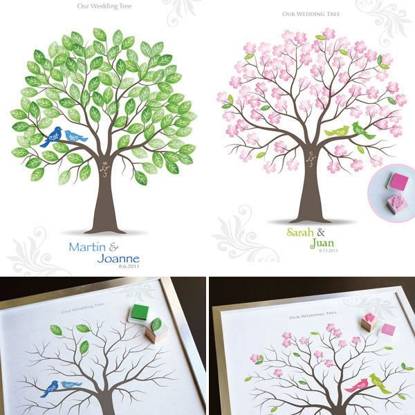 2. Stamped Guest Book Tree
