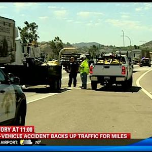 11AM UPDATE | Crash snarls traffic on SB I-15 in Escondido