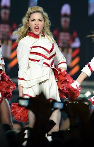 Madonna performs at Staples Center in Los Angeles on October 10, 2012 -- Getty Premium