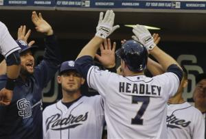 Cashner, Headley lead Padres over Braves, 3-2
