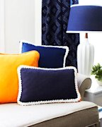 Rope-Trimmed Pillows