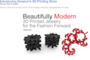 Amazon Opens a Store for 3D Printing Products