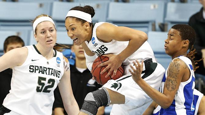 Powers leads Michigan St women past Hampton 91-61
