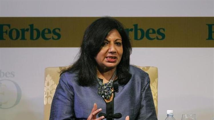 Biocon Ltd Chairman and Managing Director Kiran Mazumdar-Shaw speaks during the Forbes Global CEO Conference in Kuala Lumpur September 13, 2011. REUTERS/Bazuki Muhammad/Files