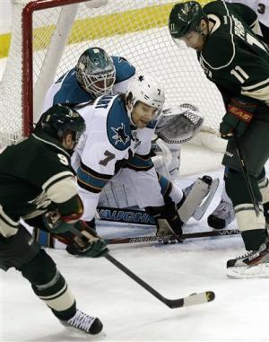 Backstrom, Suter lead Wild past Sharks 2-0