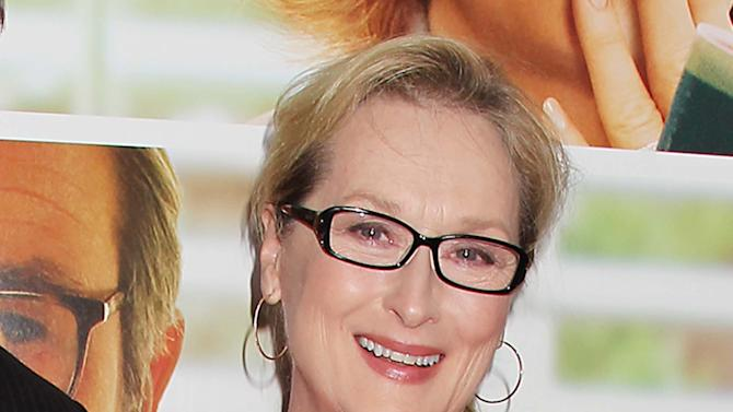 "FILE - This Aug. 6, 2012 file photo originally released by Starpix show actress Meryl Streep at the premiere of the Columbia Pictures film ""Hope Springs,"" at the SVA Theatre in New York. Streep has donated $1 million to The Public Theater in honor of both its late founder, Joseph Pap, and her friend, the author Nora Ephron. The announcement was timed to Thursday's unveiling of the nonprofit's $40 million face-lift to its 158-year-old headquarters in Astor Place. (AP Photo/Starpix, Dave Allocca)"
