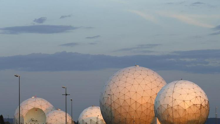General view of large former monitoring base of US intelligence organization NSA is pictured during sunrise in Bad Aibling
