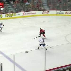 Jonas Hiller Save on Cody Hodgson (09:03/1st)