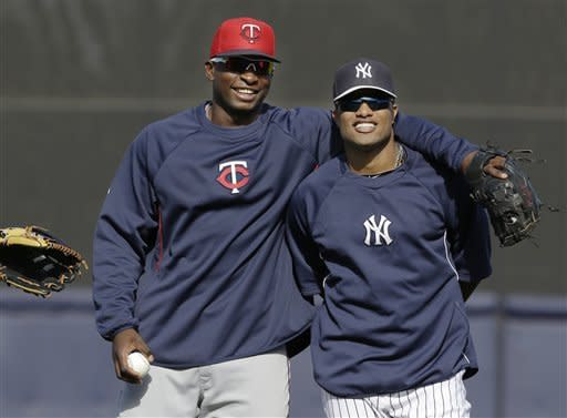 Cano rejoins team, gets Yankees' only hit vs Twins