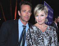 Luke Perry and Jennie Garth arrive to Hallmark Channel&#39;s 2011 TCA Winter Tour Evening Gala on January 7, 2011 in Pasadena, Calif.