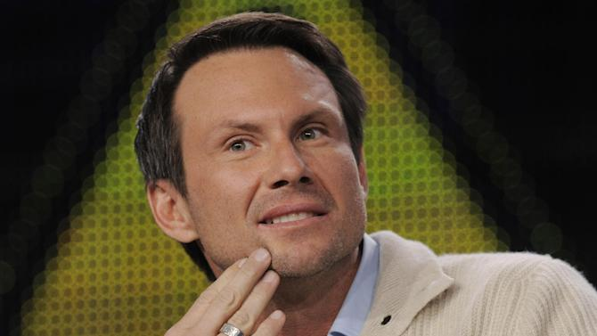 "FILE - In this Jan. 11, 2011 file photo, Christian Slater, a cast member in the FOX series ""Breaking In,"" is pictured during the FOX Broadcasting Company Television Critics Association winter press tour in Pasadena, Calif. Slater has married his girlfriend at an impromptu ceremony. Slater's spokeswoman said the 44-year-old actor wed his girlfriend of three years, Brittany Lopez, on Monday, Dec. 2, 2013, at the courthouse in Coral Gables, Fla. (AP Photo/Chris Pizzello, File)"