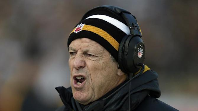 FILE - In this Dec. 23, 2012, file photo, Pittsburgh Steelers defensive coordinator Dick LeBeau talks to his defense during the first quarter of an NFL football game against the Cincinnati Bengals in Pittsburgh. The 75-year-old LeBeau has every intention of returning in 2013 for what would be a 55th consecutive season in the NFL. (AP Photo/Gene J. Puskar, File)