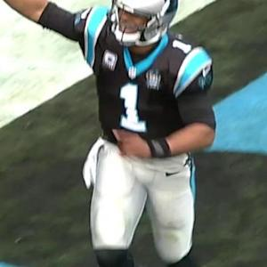 Carolina Panthers quarterback Cam Newton's 2-yard touchdown run