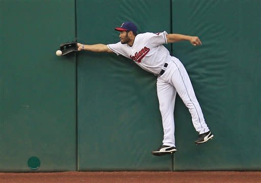 Damon's triple helps Indians beat Rangers 6-3