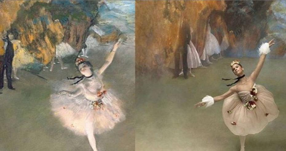 Misty Copeland uses high fashion to flawlessly re-create Degas' ballerinas