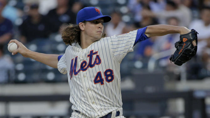 DeGrom Ks 11 in 7 shutout innings, Mets top Braves