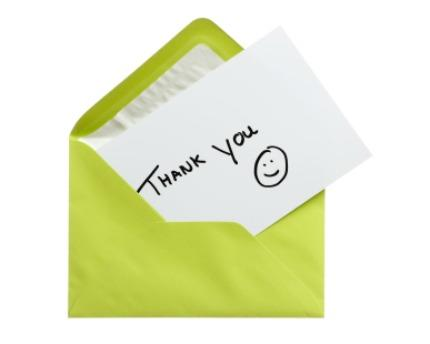 "Send More ""Thank You"" Cards"