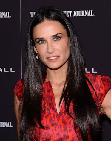 "FILE - In this Oct. 17, 2011 file photo, actress Demi Moore attends the premiere of ""Margin Call"" in New York. A spokeswoman for Moore on Tuesday, Jan. 24, 2012 said the actress is seeking professional help to treat her exhaustion and improve her health. (AP Photo/Peter Kramer, File)"