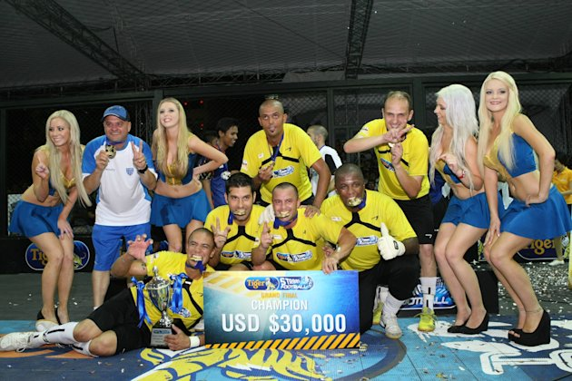 Team Floripa from Brazil crowned 2012 Tiger Street Football champions. (Photo courtesy of Tiger Beer)