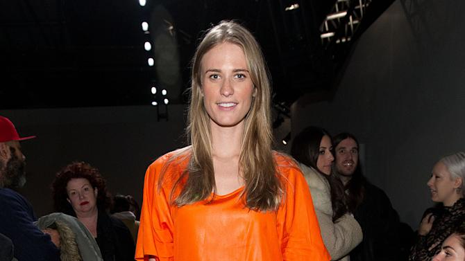 Model Julie Henderson attends the Fall 2013 Helmut Lang Runway Show on Friday, Feb., 8, 2013 during Fashion Week in New York. (Photo by Dario Cantatore/Invision/AP)
