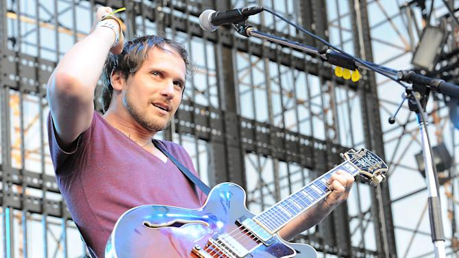 "FILE - This June 5, 2010 file photo shows Brian Aubert of Silversun Pickups performing at The 2010 KROQ Weenie Roast at The Verizon Wireless Amphitheater in Irvine, Calif. The Silversun Pickups want Mitt Romney's presidential campaign to immediately stop the use of the rock group's song ""Panic Switch."" And the Romney campaign has no problem with that.  The Los Angeles-based band's attorney sent a cease and desist letter to the Republican presidential candidate's campaign on Wednesday. A news release says neither the band nor its representatives were contacted for permission to use the 2009 alternative rock hit and the group ""has no intention of endorsing the Romney campaign.""  (AP Photo/Katy Winn, file)"