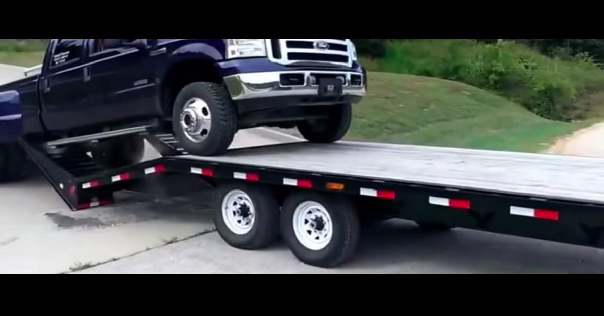 Watch Out! Bad Ending To Ford F-350 Load...