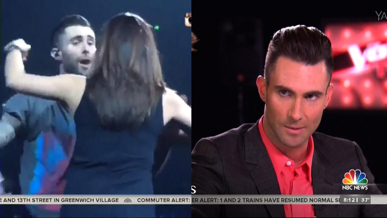 Adam Levine's First Interview About Fan Who Accosted Him
