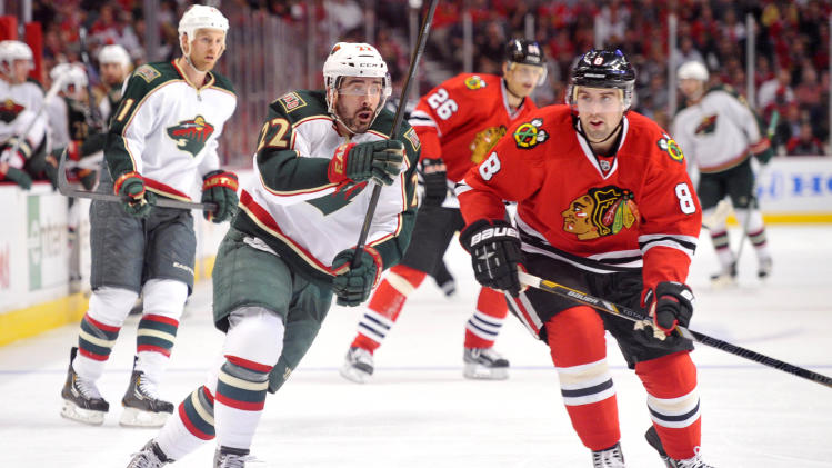 NHL: Stanley Cup Playoffs-Minnesota Wild at Chicago Blackhawks