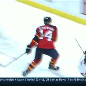 Vermette finds Vrbata for pretty 2-on-1 goal