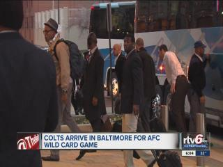 Colts arrive in Baltimore Saturday, ready for playoffs
