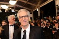 "Canadian director David Cronenberg at the screening of ""Antiviral"" directed by his son Brandon at the 65th Cannes film festival on May 19. Brandon fought the film bug for a long time before deciding to walk in his father's footsteps, the Canadian told AFP"