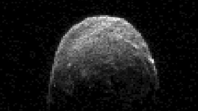 This radar image provided by NASA shows a large asteroid named 2005 YU55 that harmlessly passed by Earth in November 2011. A group of ex-NASA astronauts and scientists on Thursday, June 28, 2012 announced they plan to launch a privately-funded space telescope to search for small asteroids that may pose a danger to Earth. (AP Photo/NASA)