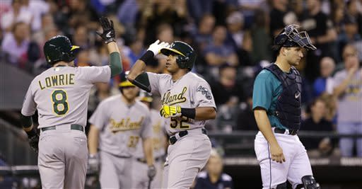 Cespedes, Colon lead A's to 6-3 win over Mariners