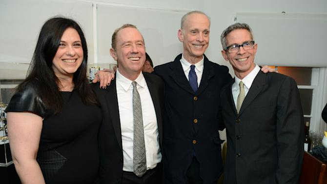 """Garance Franke-Dore, Mark Harrington, John Waters and Peter Staley attend LoveGold/EJAF Celebrate """"How to Survive a Plague"""" at Chateau Marmont on February 22, 2013 in Los Angeles. (Photo by Jordan Strauss/Invision for LoveGold/AP Images)"""