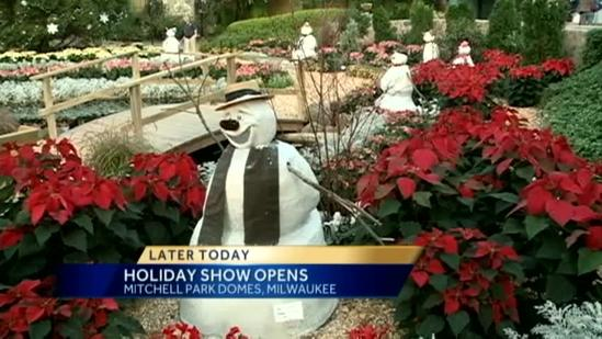 Holiday show opens at Mitchell Park Domes