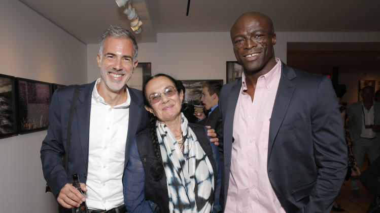 IMAGE DISTRIBUTED FOR LEICA - Photographers Yariv Milchan, Mary Ellen Mark and Seal attend the Leica Los Angeles Grand Opening, on Thursday, June 20, 2013 in West Hollywood, California. (Photo by Todd Williamson/Invision for Leica/AP Images)