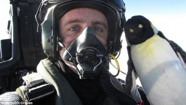 Girlfriend's Stuffed Penguin Travels World With Soldier Boyfriend