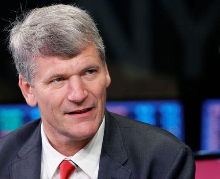 Manchester United CEO David Gill gives an interview at NY Stock Exchange