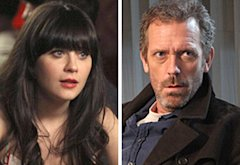 Zooey Deschanel, Hugh Laurie | Photo Credits: Patrick McElhenney/FOX; Adam Taylor/FOX